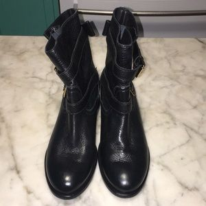 Kate Soade Black Leather Ankle Boots 8 M BNNB